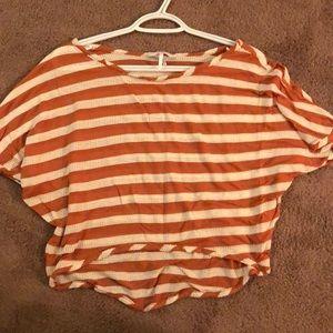Hi/lo Striped Crop